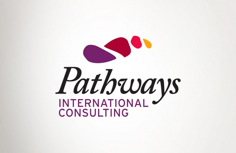 Pathways International Consulting logo design