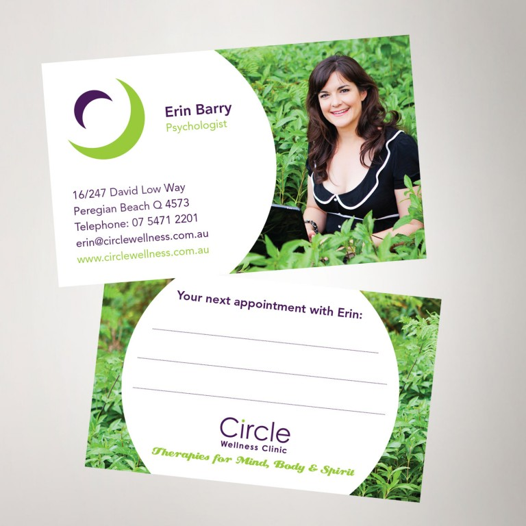 Circle Wellness Business Cards graphic design