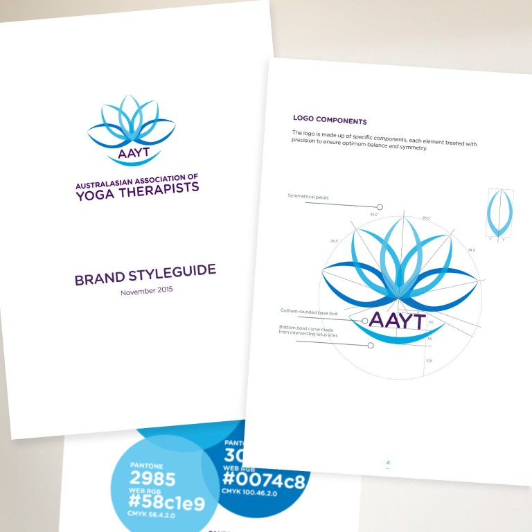 Australasian Association of Yoga Therapists brand styleguide